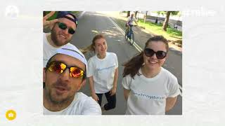 Tertychny Agabalyan Global Legal Run 2018 flash mob